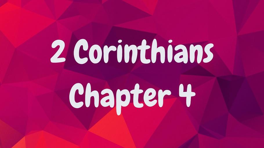 2 Corinthians Chapter 4